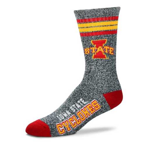 For Bare Feet Iowa State Cyclones Marbled Crew Socks
