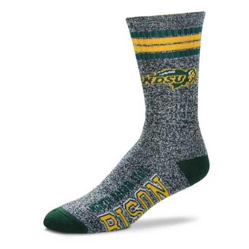 For Bare Feet North Dakota State Bison Marbled Crew Socks