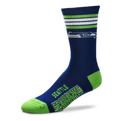 For Bare Feet Seattle Seahawks Reverse 4 Stripe Socks