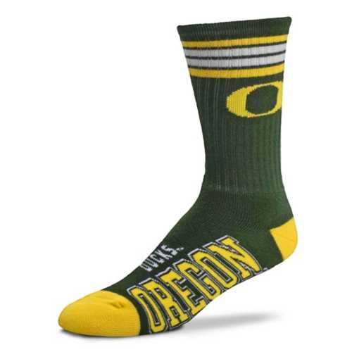 For Bare Feet Oregon Ducks 4 Stripe Deuce Crew Socks
