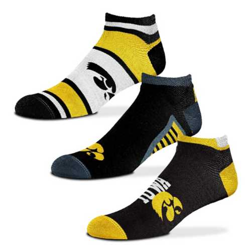 For Bare Feet Iowa Hawkeyes Show Me The Money Ankle 3 Pack Socks