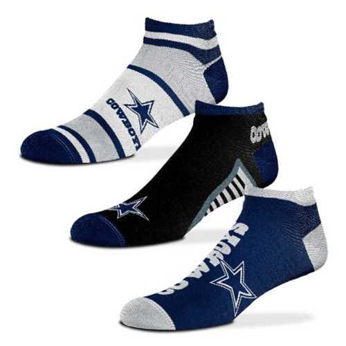 For Bare Feet Dallas Cowboys Show Me The Money 3 Pack No Show Socks