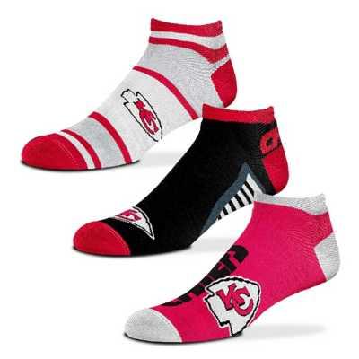 For Bare Feet Kansas City Chiefs Show Me The Money 3 Pack No Show Socks