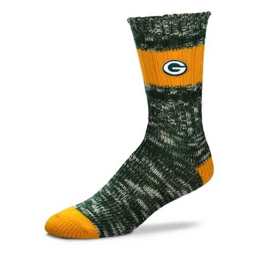 For Bare Feet Green Bay Packers Alpine Stripe Crew Socks