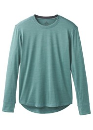 Men's prAna Pratt Crew neck Long Sleeve Shirt