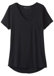 Women's prAna Foundation Short Sleeve Shirt V-Neck