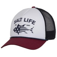Salt Life Red White and Bluefin Trucker Hat