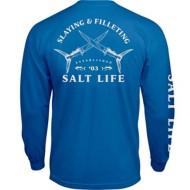Men's Salt Life Slaying and Filleting Long Sleeve Pocket T-Shirt