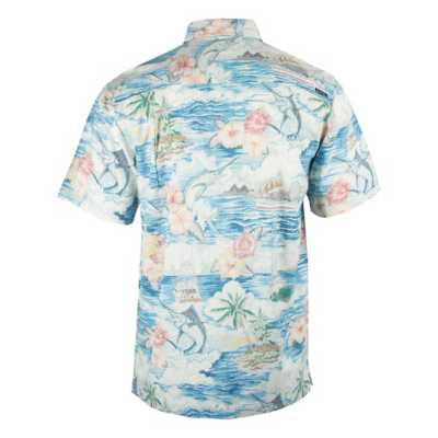 Men's Salt Life Boat Life Woven Pocket Button Front Shirt