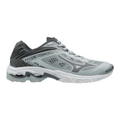 mizuno women's wave lightning z5 indoor court shoe herren grey