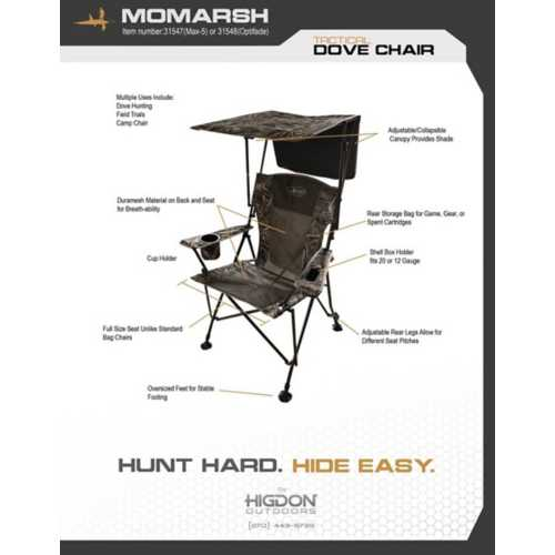 MOmarsh Tactical Dove Chair