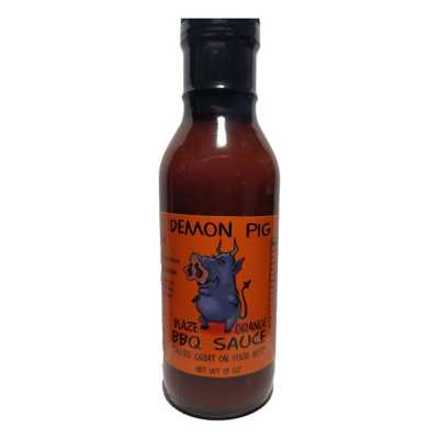 Demon Pig Blaze Orange BBQ Sauce