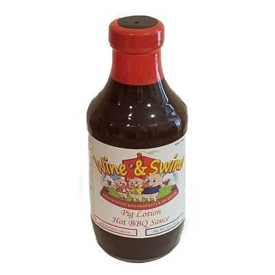 Wine and Swine Pig Lotion Hot BBQ Sauce