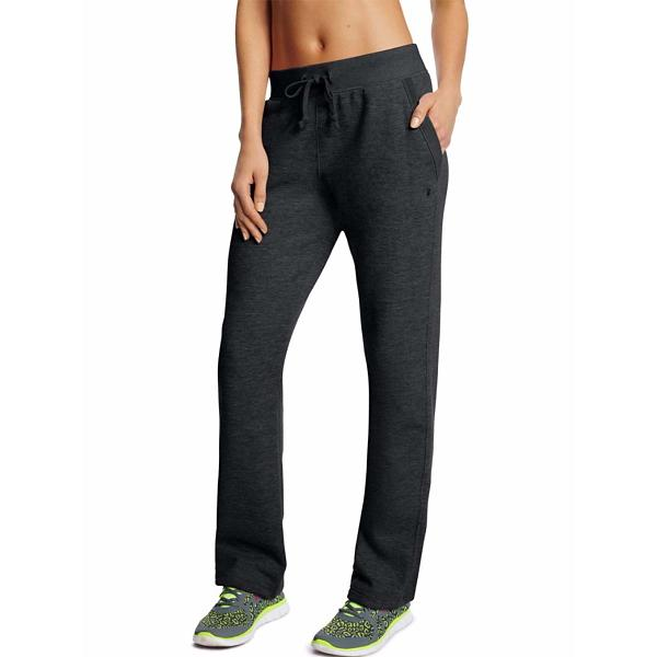 fe869f261f05 ... Women s Champion Powerblend Open Bottom Fleece Pant Tap to Zoom  Black  Tap to Zoom  Granite Heather