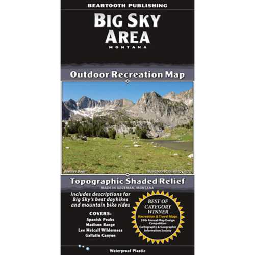 Beartooth Publishing Big Sky Area Topographic Map