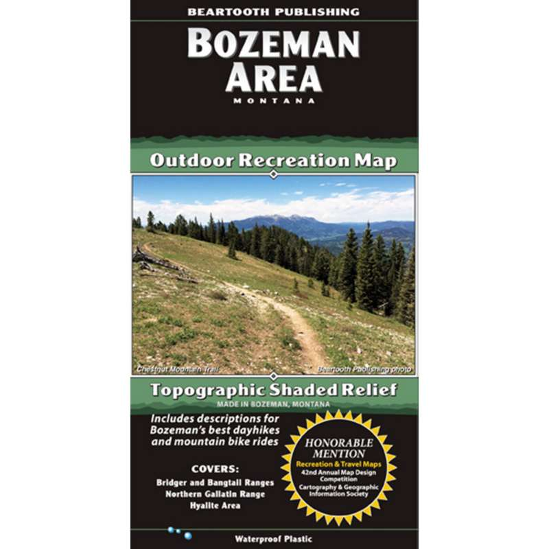Beartooth Publishing Bozeman Area Topographic Map