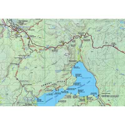 Beartooth Publishing Yellowstone South Topographic Map