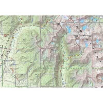 Beartooth Publishing Crazy Mountains Topographic Map