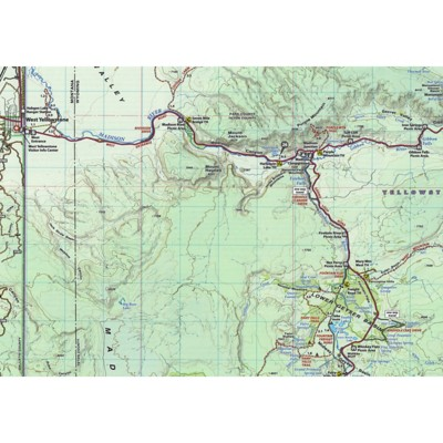 Topographic Map Of Yellowstone.Beartooth Publishing Yellowstone National Park Topographic Map