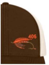 Area Code Art Spey Fly Trucker Hat