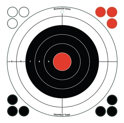 "Birchwood Casey Stick-A-Bull Self-Adhesive 12""x12"" Targets 5 Per Pack With 60 Pasters"