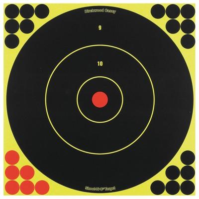 "Birchwood Casey Shoot-N-C 12"" Round Bull's-Eye 5 Targets 120 Pasters"