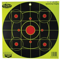 Dirty Bird Bull's Eye Yellow 12 Inch Round Sight-In 4 Per Package