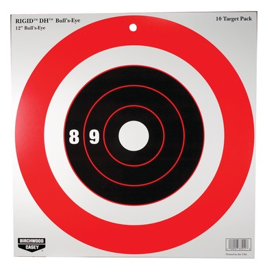 "Birchwood Casey Rigid Paper Target DH Bull's-Eye 12"" 10 Pack"