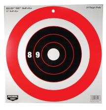 Rigid Paper Target DH Bull's Eye 12 Inch 10 Per Package