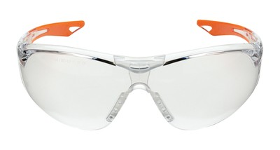 Youth Champion Ballistic Shooting Glasses Clear/Orange Frame Clear Lens