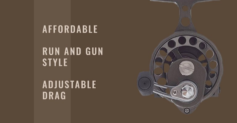 Clam Dave Genz Ice Spooler Elite Reel: affordable, run and gun style, adjustable drag