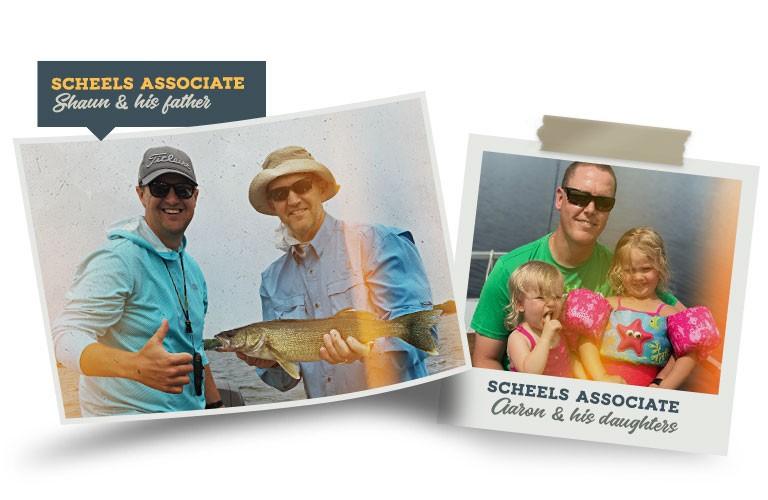 SCHEELS associates fishing with their dads