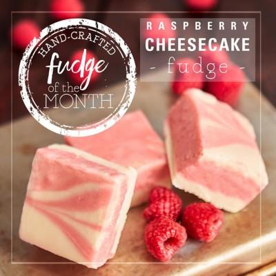 Raspberry Cheesecake Fudge of the Month 6 Piece