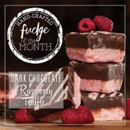 Dark Chocolate Raspberry Truffle Fudge of the Month 6 Piece