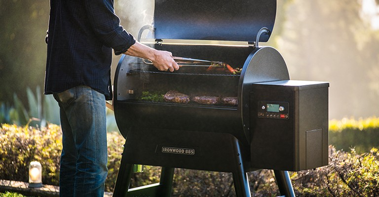 Cooking on a pellet grill