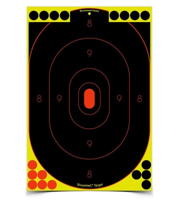 "Birchwood Casey Shoot-N-C 12""x18"" Oval Silhouette 5 Targets 90 Pasters"