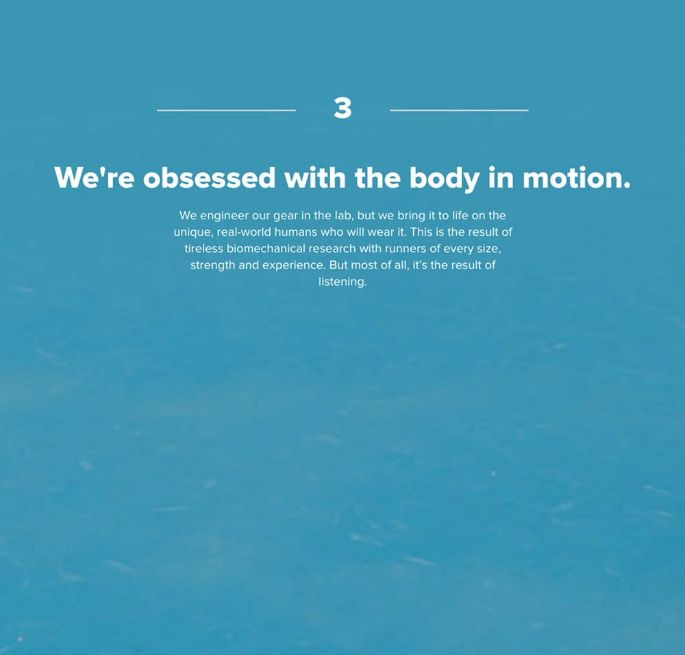 3: We are obsessed with the body in motion.