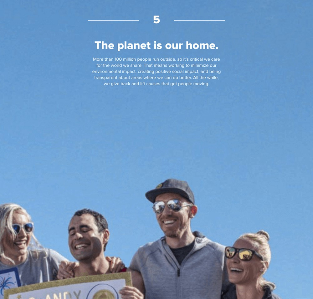 Brooks 5: The planet is our home. More than 100 million people run outside, so it