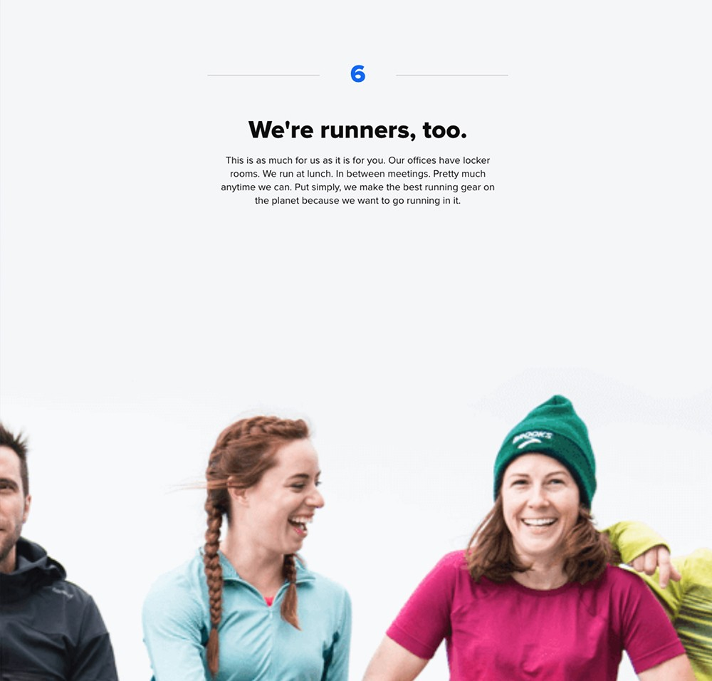 Brooks 6: We are runners, too.