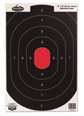 Dirty Bird Paper Silhouette Target Black/Red 12x18 Inch 8 Per Package