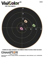 Champion VisiColor 8 Inch Bullseye Target 10 Per Pack
