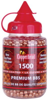 Crosman Copperhead  Copper-Coated Steel 5.23 Grain BBs 1,500 Count