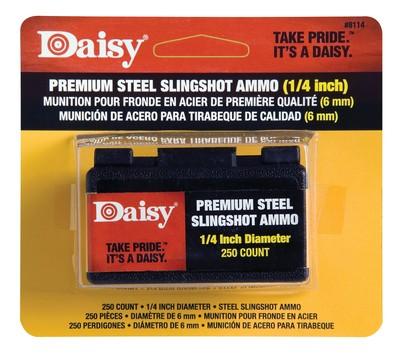 Steel Slingshot Ammunition .25 Inch 250 Per Pack