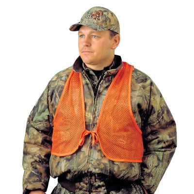 Adult Mesh Safety Vest Orange