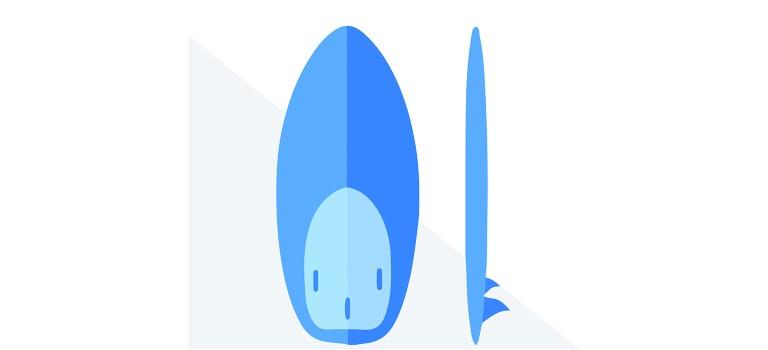 A hybrid-style wakesurf board