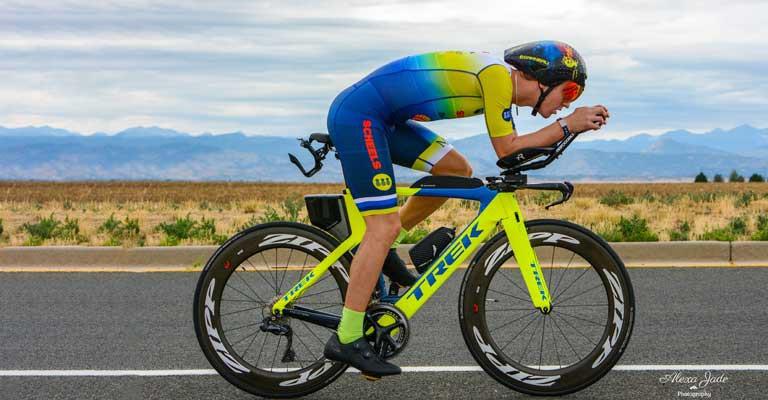 Branden Scheel on a bike