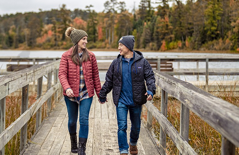 Lightweight Jackets with man and woman