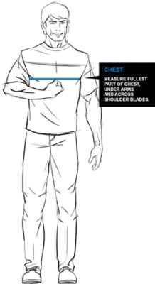 Kuhl Chest Fit Guide Image