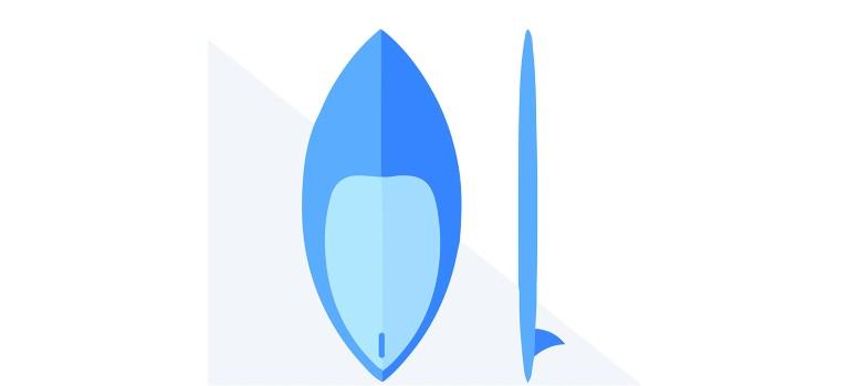 A skim-style wakesurf board