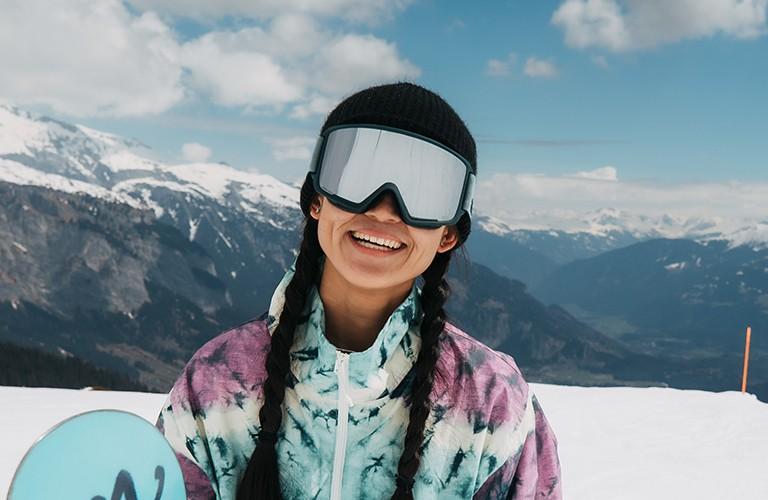 girl wearing ski goggles
